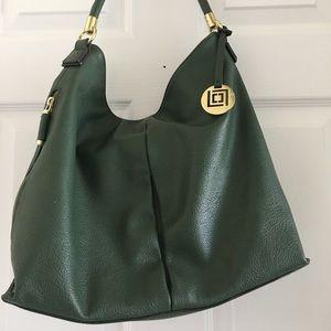 Liz Claiborne women's hunter green hobo bag